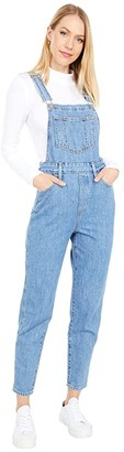 Levi's(r) Womens Tapered Overalls (Crazy Blue) Women's Overalls One Piece