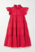 Rhode Resort Tiffany Ruffled Tiered Cotton-poplin Mini Dress