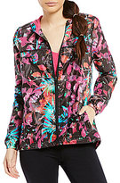 Nanette Lepore Play Active Printed Packable Windbreaker