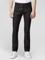 Calvin Klein Collection Cotton Cashmere Denim Slim Jean