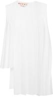 Marni Cotton Poplin Asymmetrical Pleated Sleeveless Top