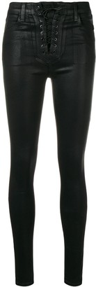 J Brand x Steph Shep Coated Vendetta skiny trousers