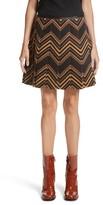 Marc Jacobs Women's Chevron Pleated Corduroy Skirt