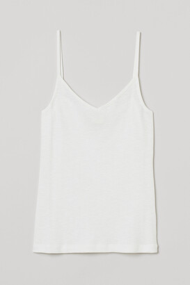 H&M Ribbed modal-blend strappy top