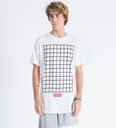 Hero's Heroine White Grid T-Shirt