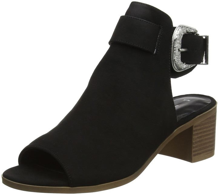 New Look Women's Poser Ankle Boots (Black 1) 7 UK (40 EU)