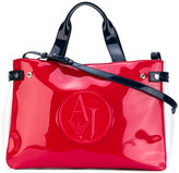 Armani Jeans high shine tote bag - women - Synthetic Resin - One Size