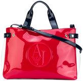 Armani Jeans high shine tote bag