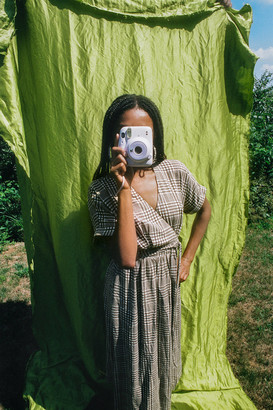 Urban Outfitters Gabrielle Woven Midi Wrap Dress