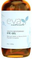 Fine Lines Eye Gel - Larger Size 2 oz Bottle - Best Firming Eye Cream Treatment for Dark Circles, Puffy Eyes, Crow's Feet, & Under Eye Wrinkles by Eva Naturals