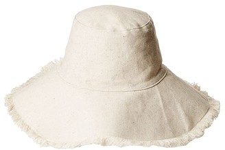 Hat Attack Canvas Packable Hat (Solid Natural) Caps
