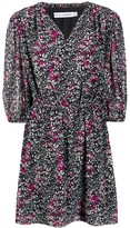 Rebecca Minkoff foliage-print flared dress