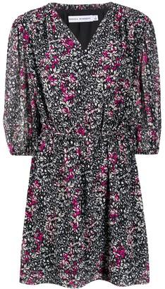 Rebecca Minkoff foliage-print flared dress