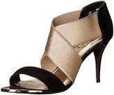 Ted Baker Women's Leniya Lthr Af Black/Gold Dress Sandal