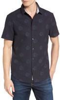 Original Penguin Men's Heritage Slim Fit Dot Print Shirt