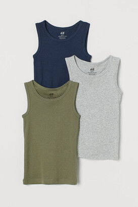 H&M 3-pack Tank Tops - Blue