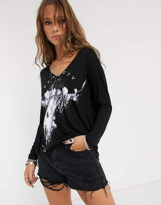 Religion beauty of the night oversized t shirt-Black