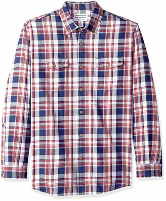 Amazon Essentials Men's Regular-Fit Long-Sleeve Two-Pocket Twill Shirt