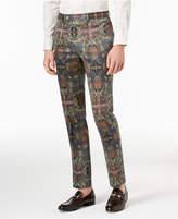 Tallia Orange Men's Slim-Fit Olive Printed Suit Pants