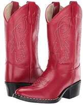 Old West Kids Boots J Toe Western Boot (Toddler/Little Kid) (Red) Cowboy Boots
