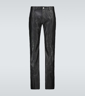 Alyx Ostrich Cage leather pants