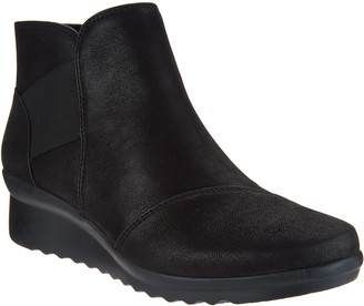 Clarks CLOUDSTEPPERS by Wedge Ankle Boots - Caddell Tropic