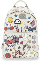 Anya Hindmarch Stickers mini leather backpack