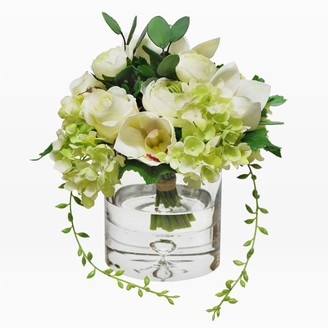west elm Faux Flower Bouquet in Vase - White