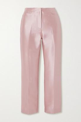 Vanessa Cocchiaro The Nellie Cropped Satin Bootcut Pants