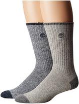 Timberland Marled 2-Pack Crew Socks