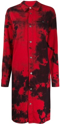 Mcq Swallow Tatsuko tie-dye shirt dress