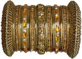 Indian Bridal Collection! Panache' Bangles Set in Tone By BangleEmporium. Medium