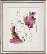 John-Richard Collection John Richard Lady In Violet I by Kian Denson (Framed)