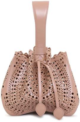 Alaia Rose Marie Small light beige bag