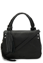 Elizabeth and James Trapeze Crossbody in Black.