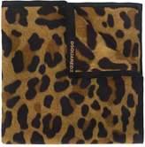 DSQUARED2 leopard print scarf