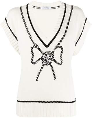 VIVETTA braided bow pullover