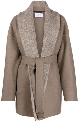 Harris Wharf London Belted Wrap-Style Coat