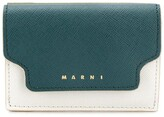 Marni colour-blocked logo coin wallet