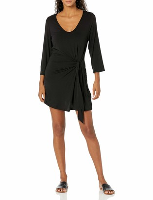 Kenneth Cole New York Women's Tie Front Wrap Dress Swimsuit Cover Up