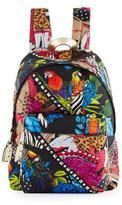 Marc Jacobs Palm Parrot Studded Biker Backpack, Black/Multi