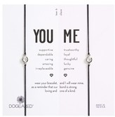 Dogeared Women's You & Me Set Of 2 Crystal Charm Friendship Bracelets
