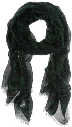 Piper Green Abstract Animal Scarf