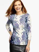 Talbots Cashmere Audrey Sweater - Allston Paisley