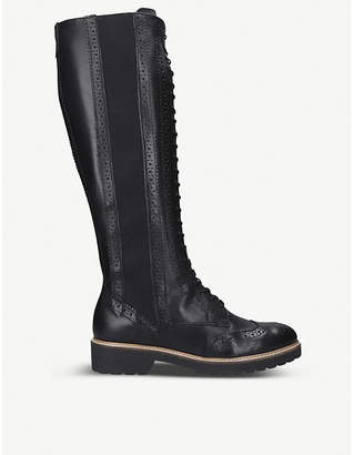 Carvela Snail leather knee-high boots