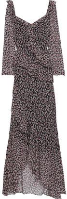 Diane von Furstenberg Jasmyne Ruffled Floral-print Silk-georgette Maxi Dress