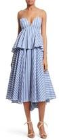 Milly Women's Melody Peplum Midi Dress
