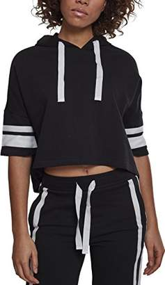 Urban Classic Women's Ladies Taped Short Sleeve Hoody