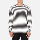 Wood Wood Men's Harrison Long Sleeve TShirt - Pristine/Dress Blues