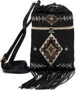 Ralph Lauren Beaded Nappa Leather Pouch